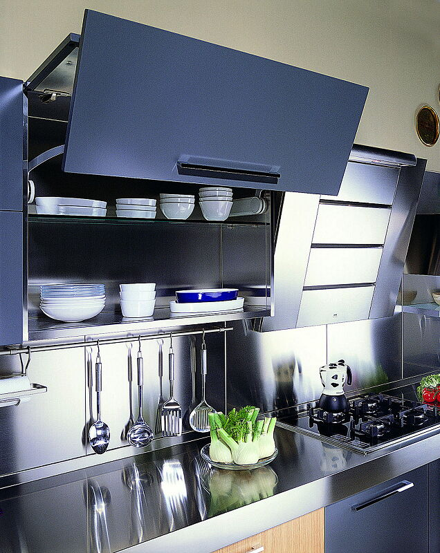 Arca Cucine Italia Cucine Domestiche In Acciaio Inox 18 Quadra 0007