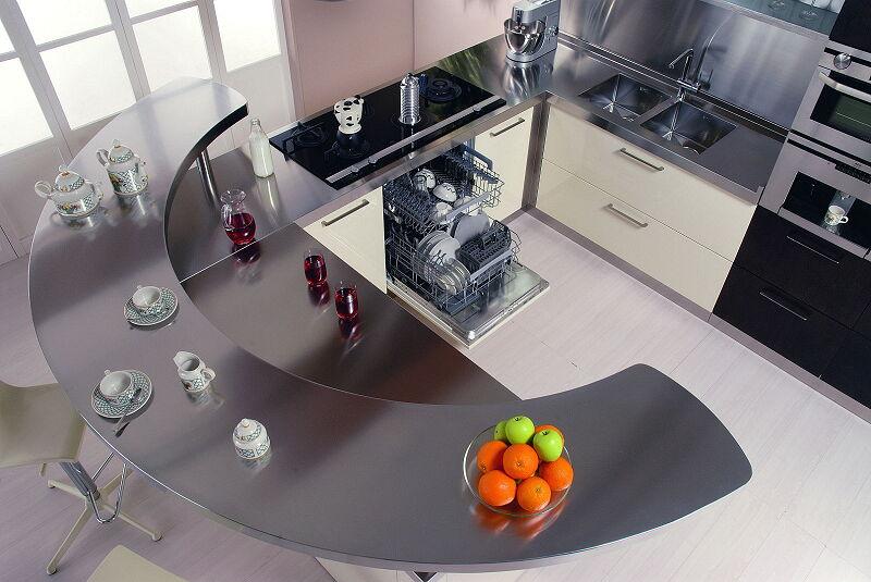 Arca Cucine Italia Cucine Domestiche In Acciaio Inox 20 Retunne 0002