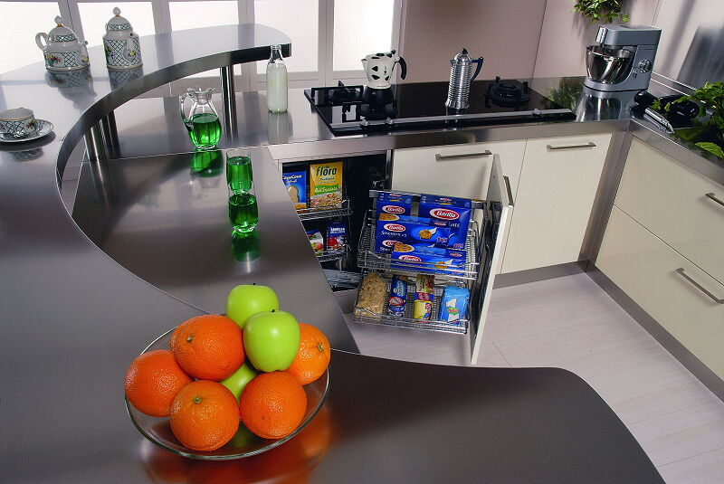 Arca Cucine Italia Cucine Domestiche In Acciaio Inox 20 Retunne 0005