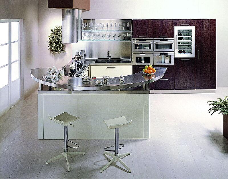 Arca Cucine Italia Cucine Domestiche In Acciaio Inox 20 Retunne 0007