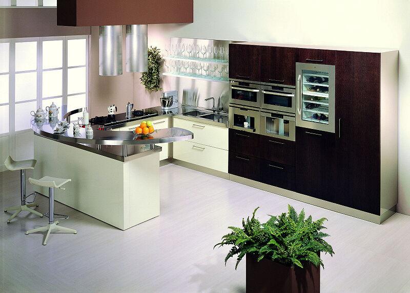 Arca Cucine Italia Cucine Domestiche In Acciaio Inox 20 Retunne 0008