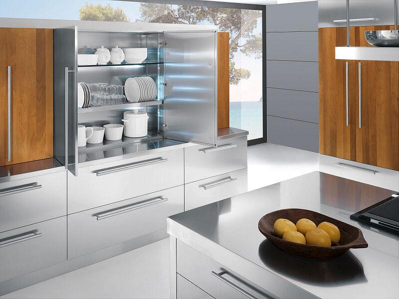Arca Cucine Italia Cucine Domestiche In Acciaio Inox 23 Barn A 004