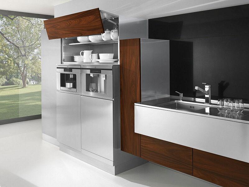 Arca Cucine Italia Cucine Domestiche In Acciaio Inox 24 Retro 0001