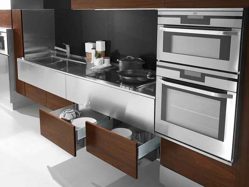 Arca Cucine Italia Cucine Domestiche In Acciaio Inox 24 Retro 0003