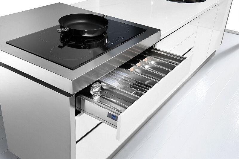 Arca Cucine Italia Cucine Domestiche In Acciaio Inox 25 Trend 0001