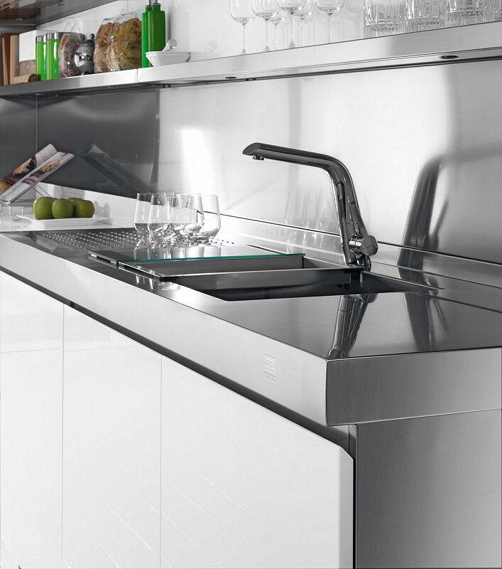 Ark Kitchens Italian Kitchens Milf Stainless Steel 25 Trend 0005