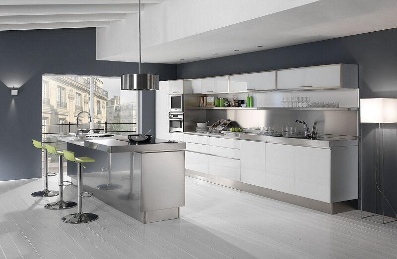 Arca Cucine Italia Cucine Domestiche In Acciaio Inox 25 Trendkjl 001