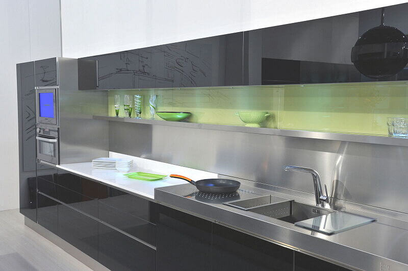 Ark Kitchens Italian Kitchens Milf Stainless Steel Expo 0006
