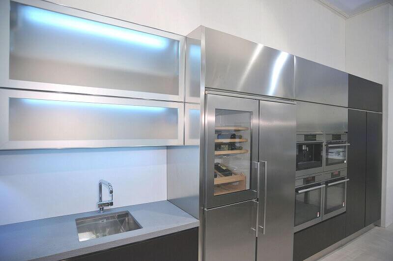 Arca Cucine Italia Cucine Domestiche In Acciaio Inox Expo 0008