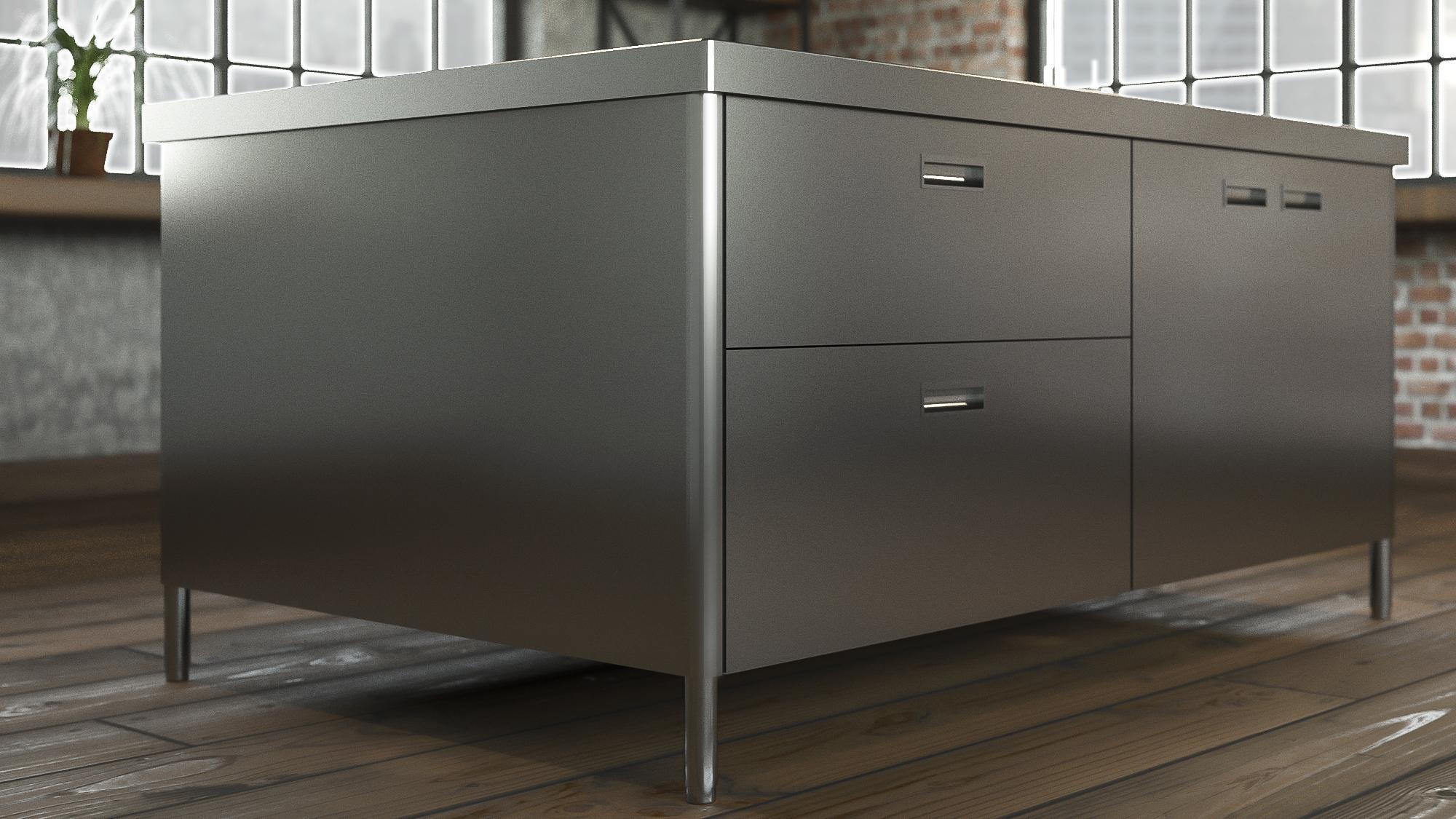 Arca Cucine Italy - Domestic stainless steel kitchens - Monoblock Inox - Levanto