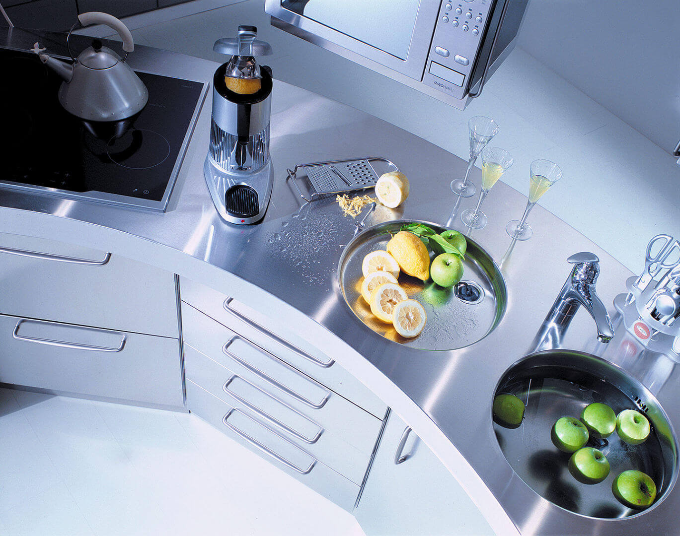 Arca Cucine Italy - Domestic stainless steel kitchens - Venus - Double Hot Dry Zone