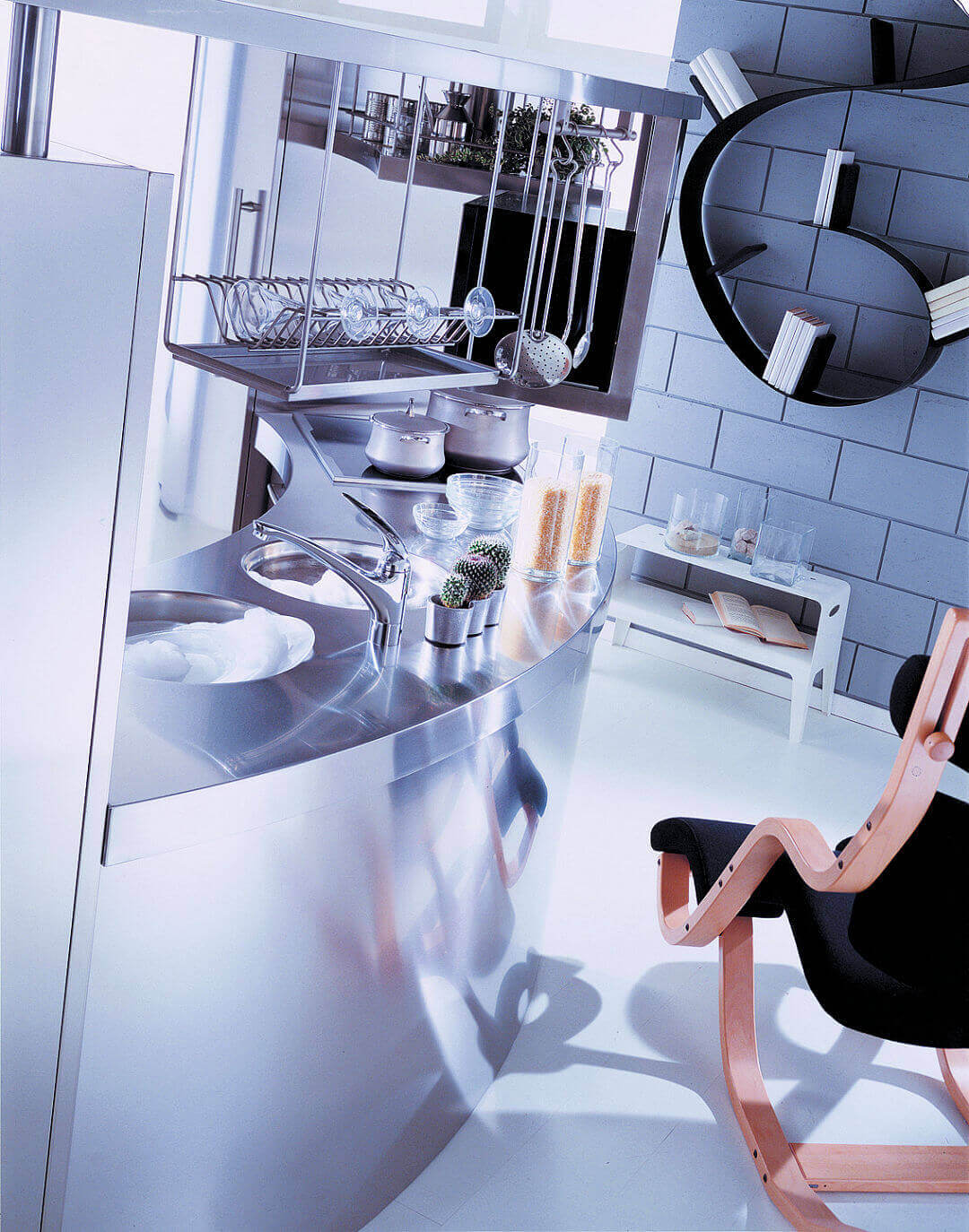 Arca Cucine Italy - Domestic stainless steel kitchens - Venus - Retro