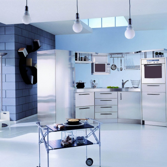Arca Cucine Italy - Domestic stainless steel kitchens - Venus