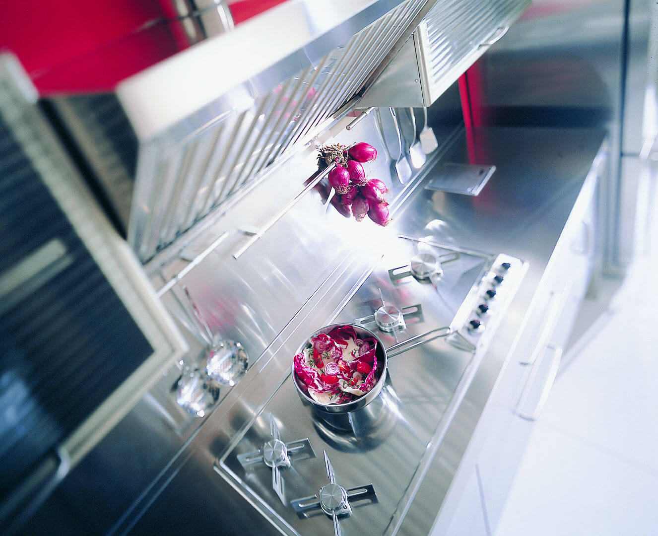 Arca Cucine Italy - Home Kitchen Stainless Steel - Spring - Cooking and Extraction Plan