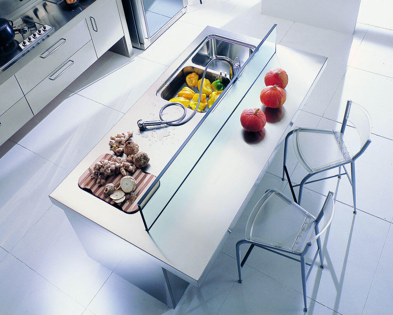 Arca Cucine Italy - Home Kitchen Stainless Steel - Spring - Isola Snack