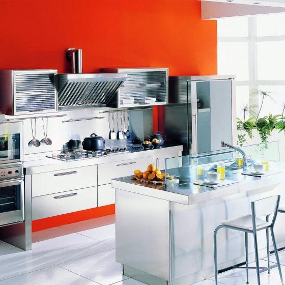 Arca Cucine-Italien - Home Küche Edelstahl - Frühling