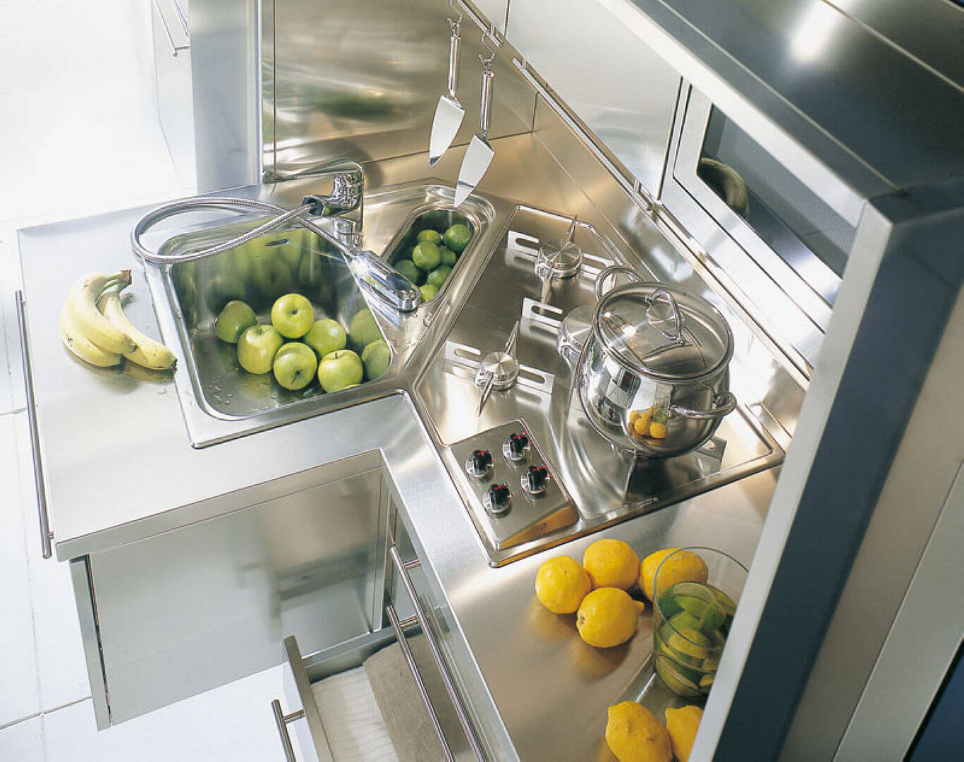 Arca Cucine Italy - Domestic stainless steel kitchens - 10 2 - Wall - Cooking Dry Embossing