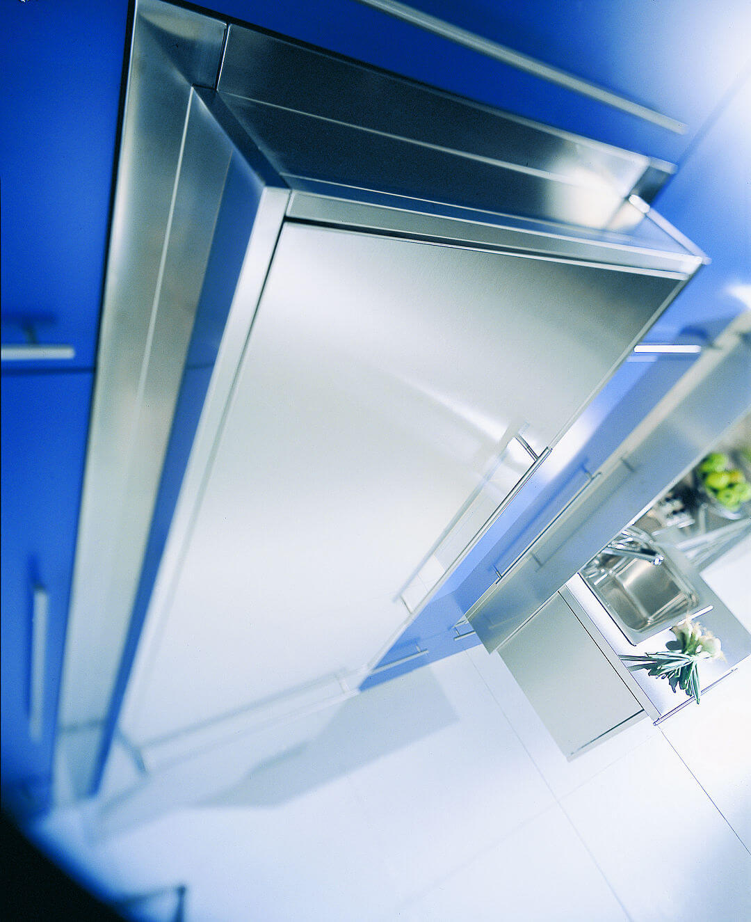 Arca Cucine Italy - Domestic stainless steel kitchens - Wall - Fridge