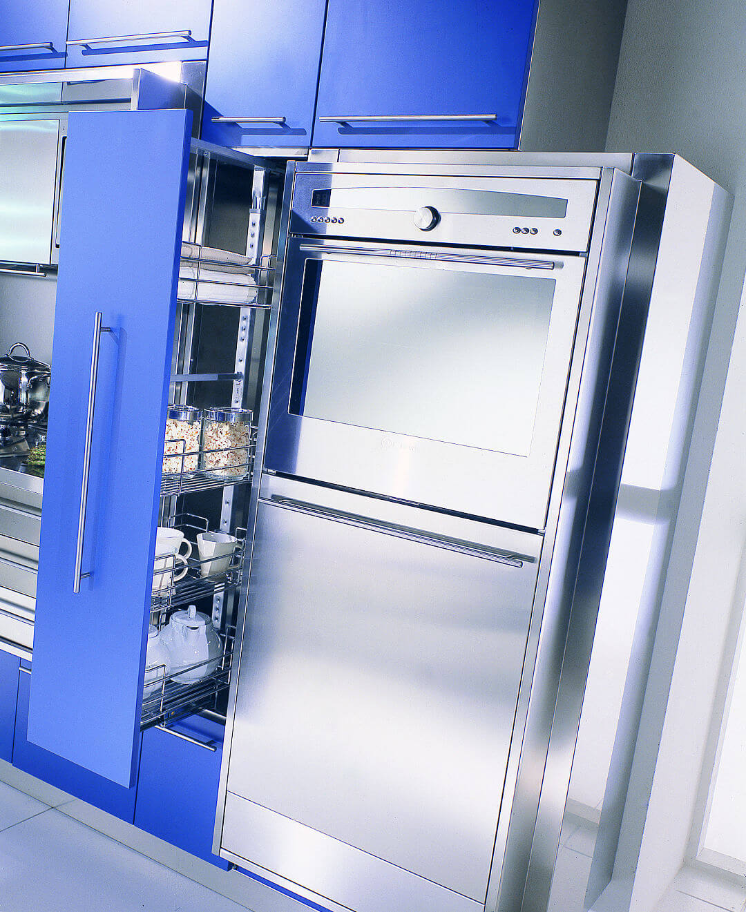 Arca Cucine Italy - Domestic stainless steel kitchens - Wall - Telescopic Column
