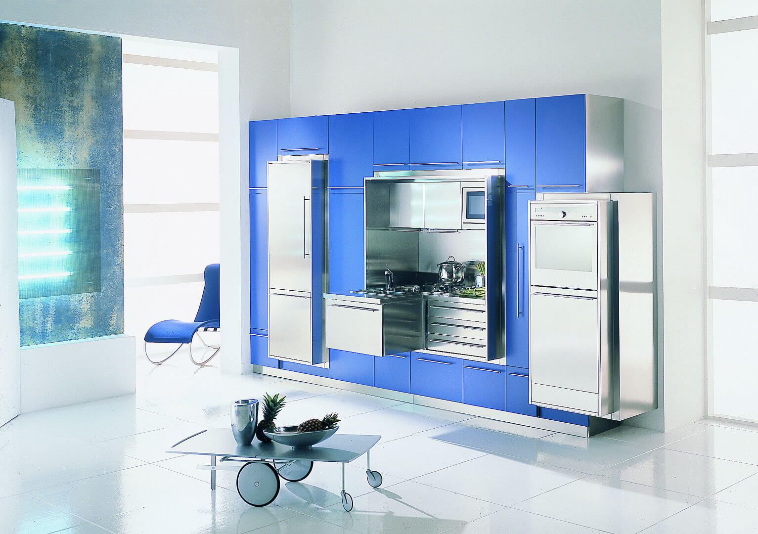 Arca Cucine Italy - Domestic stainless steel kitchens - Wall - suspended