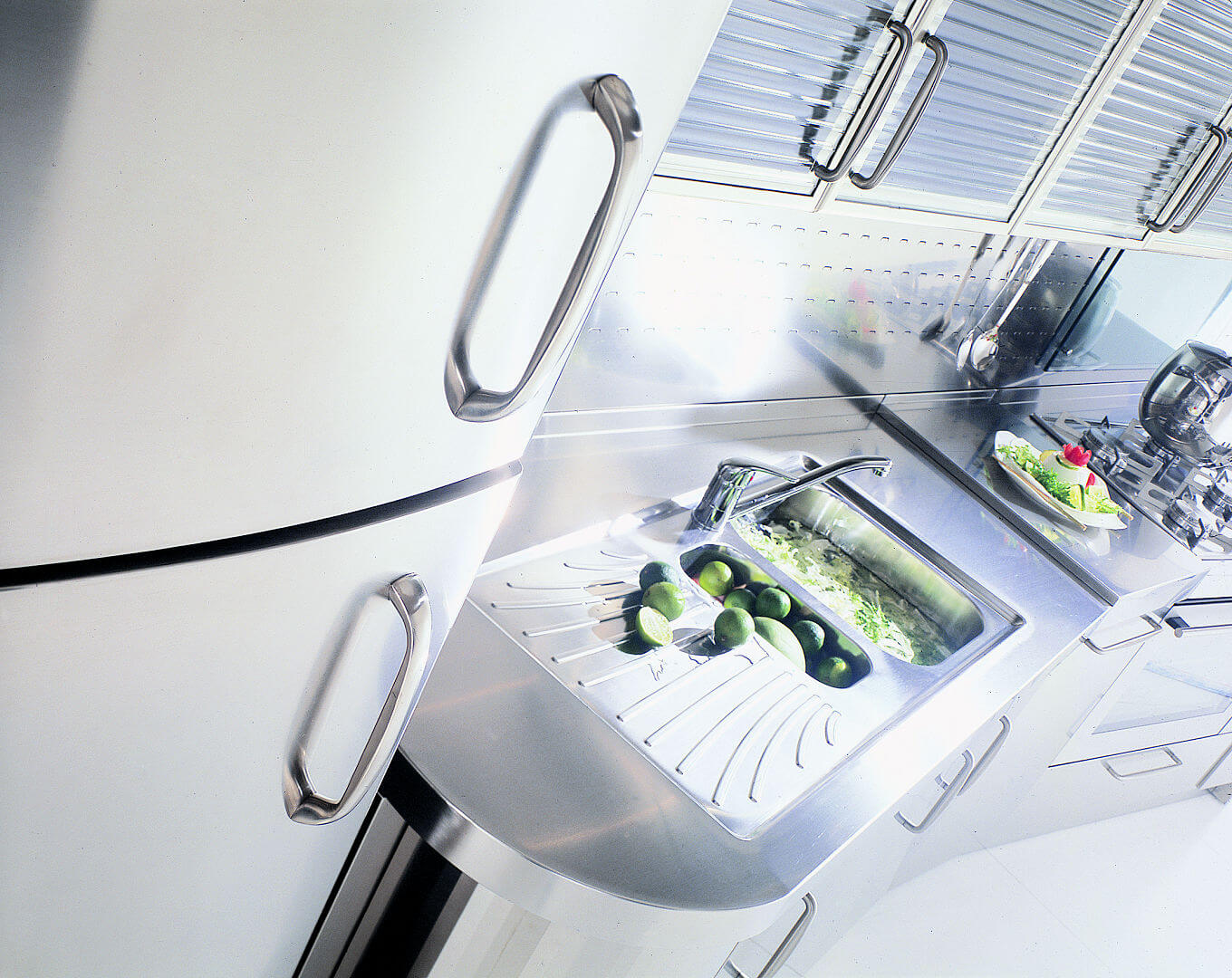 Arca Cucine Italy - Kitchen maid in Stainless Steel and Glass - Wagon - Sink