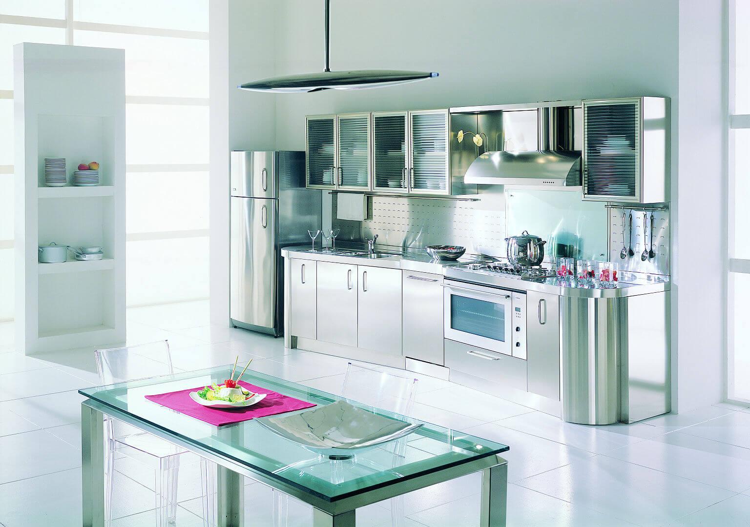Cucine in acciaio inox prezzi cucine componibili in acciaio foto design mag cucine acciaio - Cucine in acciaio ikea ...