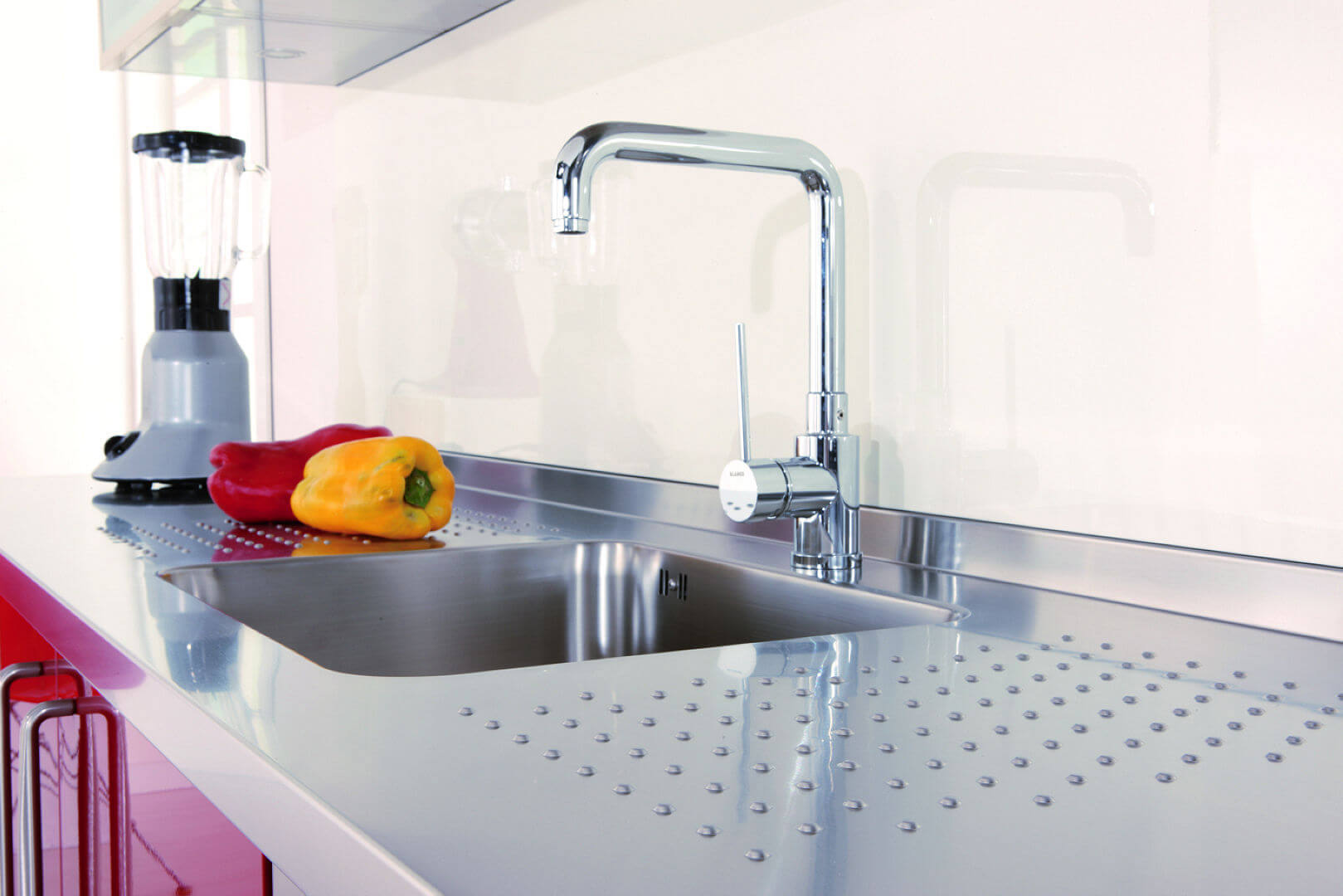 Arca Cucine Italy - Domestic stainless steel kitchens - 13 - Gourmet - Sink