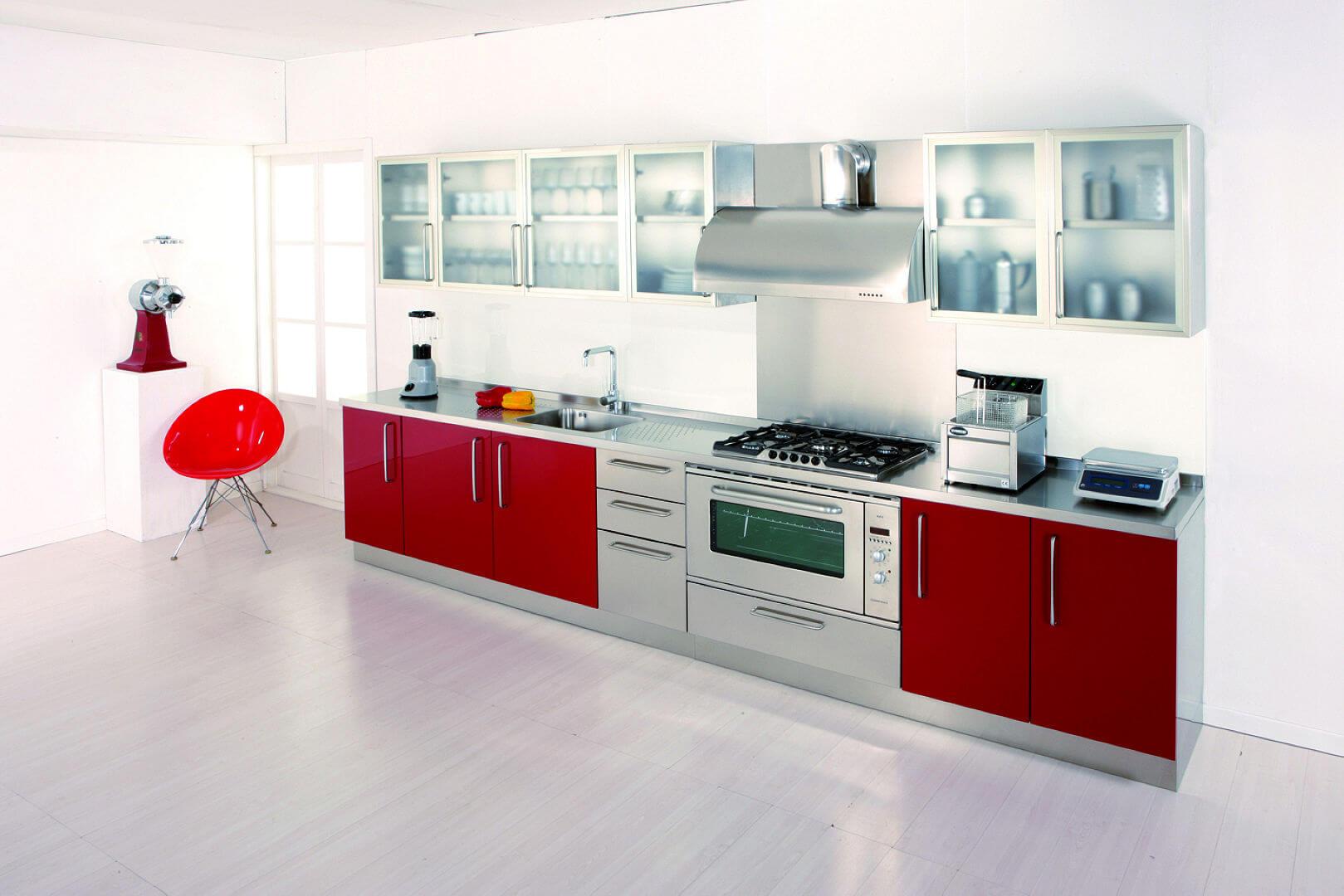 gourmet - arca cucine italia - cucine in acciaio inox - Pensili Inox Per Cucina