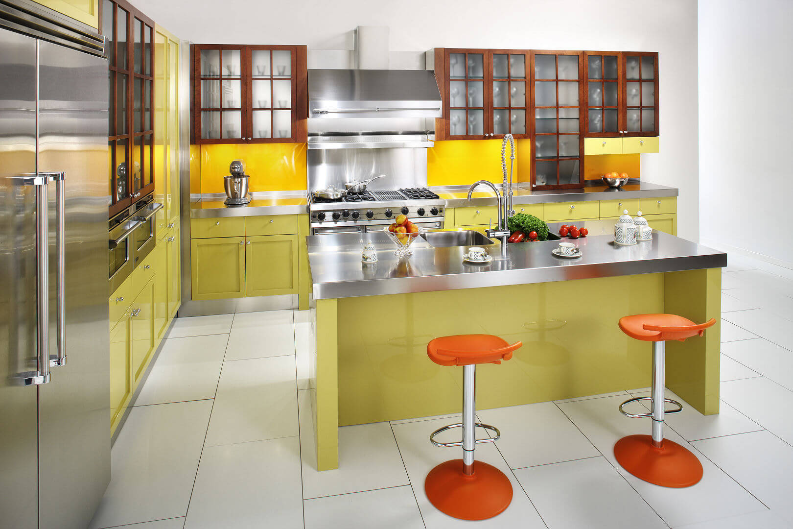 Arca Cucine Italy - Domestic stainless steel kitchens - 14 - Cambridge - Isola