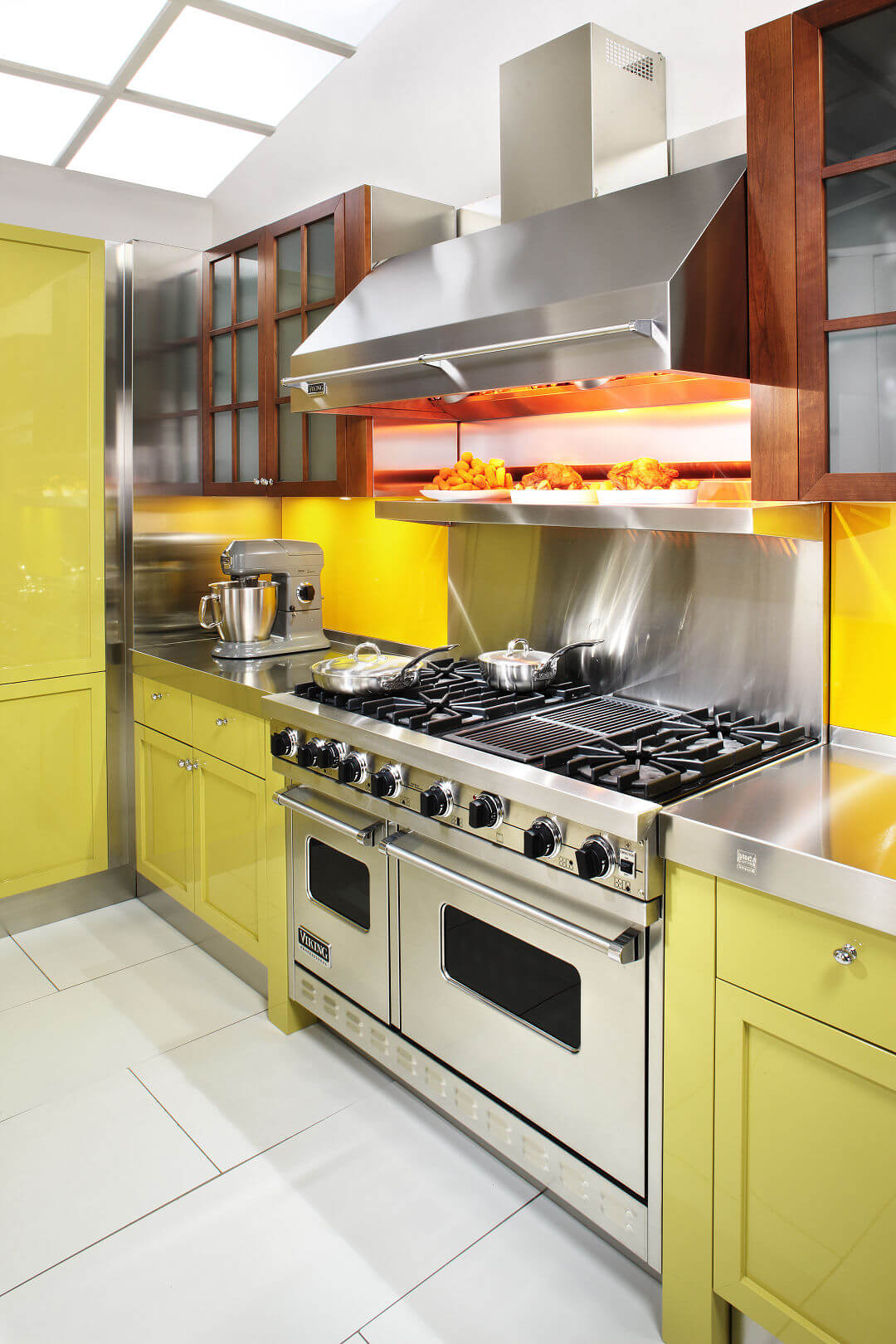 Arca Cucine Italy - Domestic stainless steel kitchens - 14 - Cambridge - block Cooking