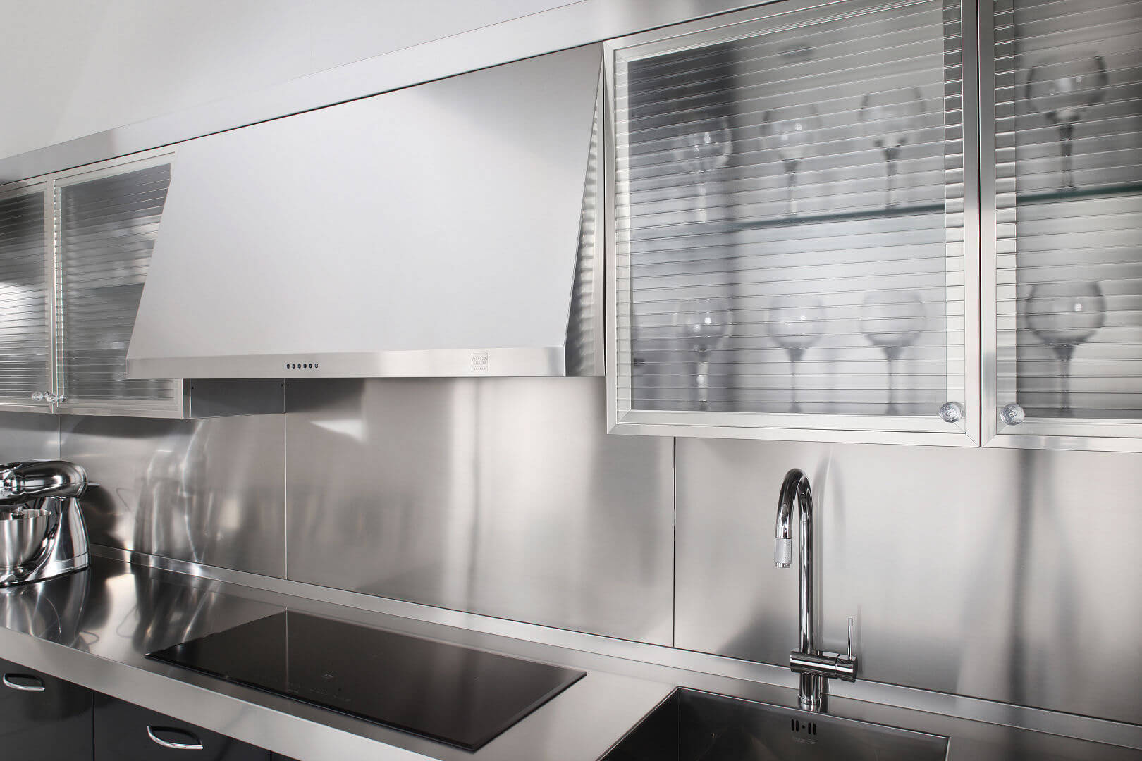 Arca Cucine Italia - Cucine Domestiche in Acciaio Inox - 15 - Essex - Pensili