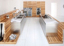 Arca Cucine Italia - Cucine Domestiche in Acciaio Inox - 16 - Open - 0001