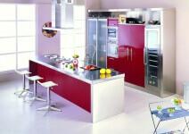Arca Cucine Italia - Cucina Domestica in Acciaio Inox e Vetro - Opera