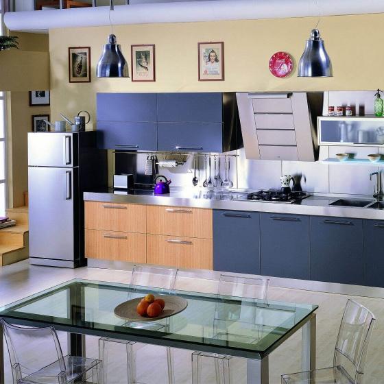 Arca Cucine-Italien - Küche Edelstahl - Quadra