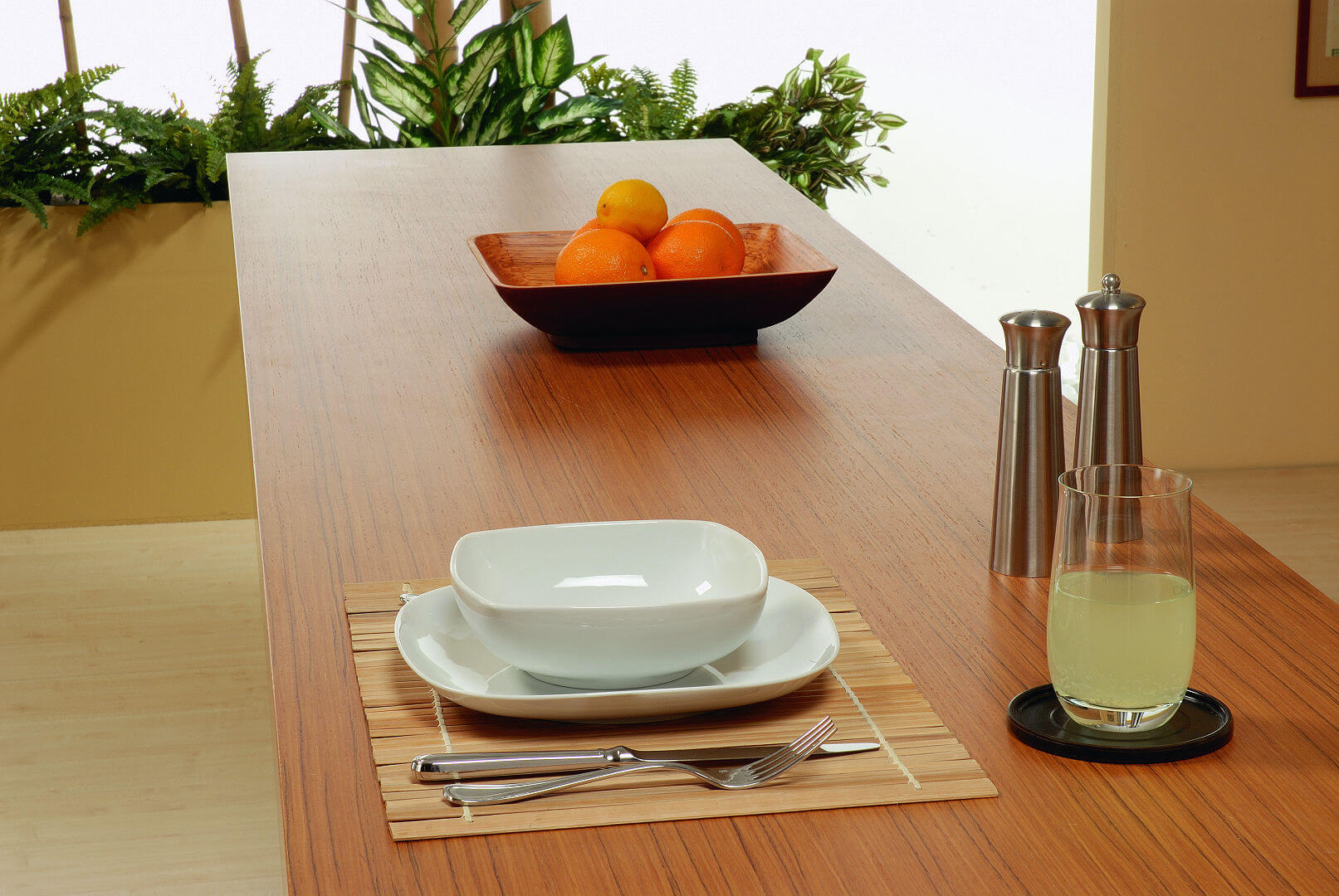 Arca Cucine Italy - Kitchen maid in stainless steel and teak - Elle