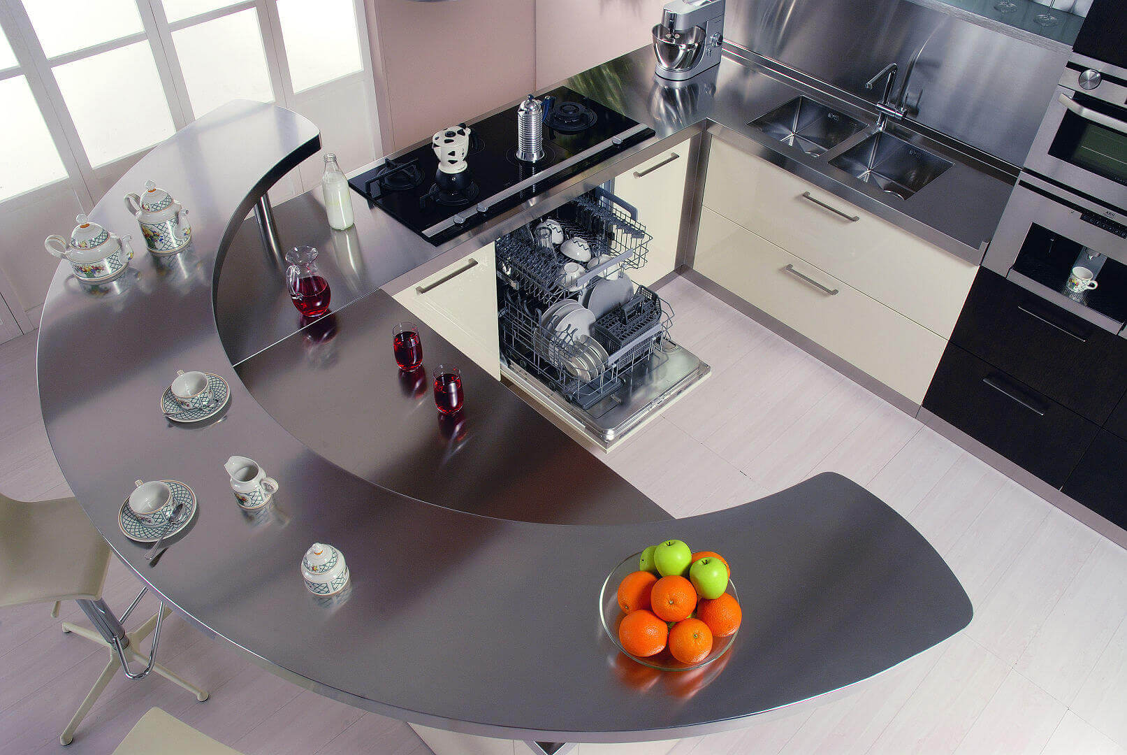 Arca Cucine Italy - Domestic stainless steel kitchens - 20 - Retunne - Dishwasher