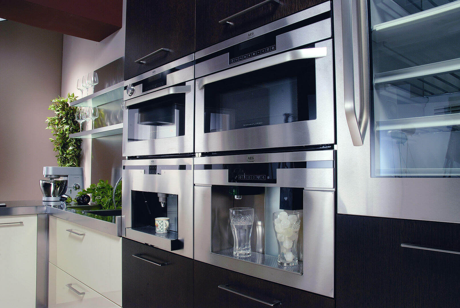 Arca Cucine Italy - Domestic stainless steel kitchens - 20 - Retunne - Ovens Composition