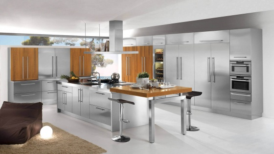 Arca Cucine Italy - Domestic stainless steel kitchens - 23 - Barn - 0001