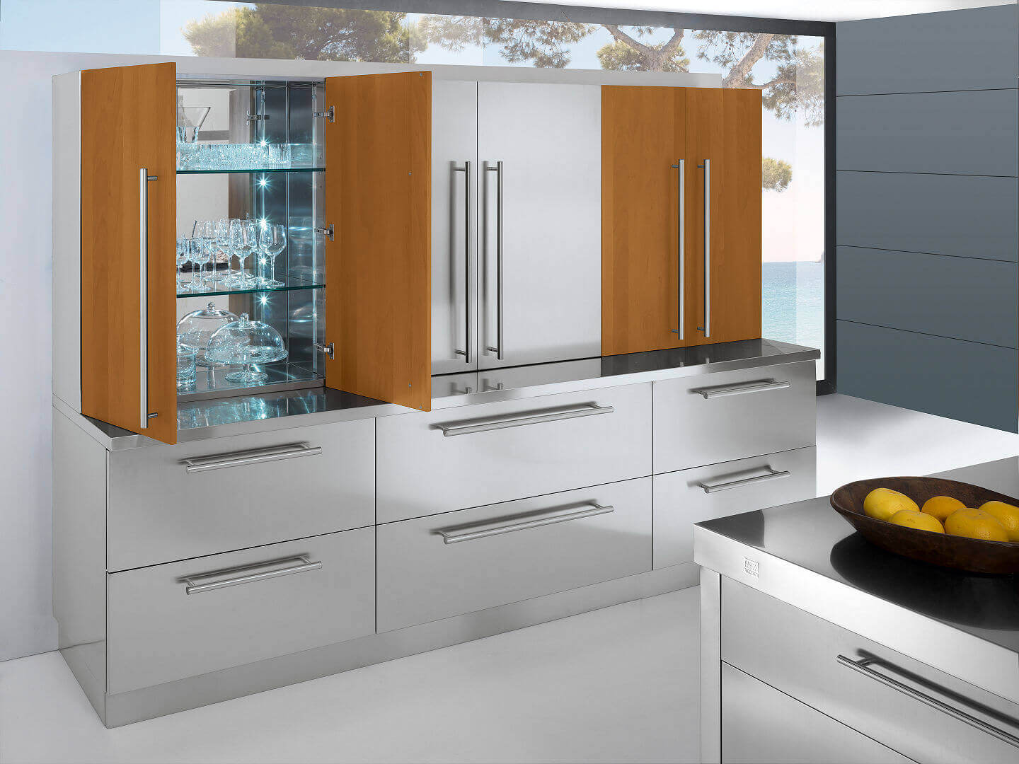 Arca Cucine Italy - Domestic stainless steel kitchens - 23 - Barn a- 003