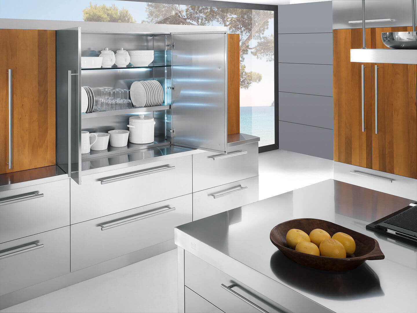 Arca Cucine Italy - Domestic stainless steel kitchens - 23 - Barn a- 004