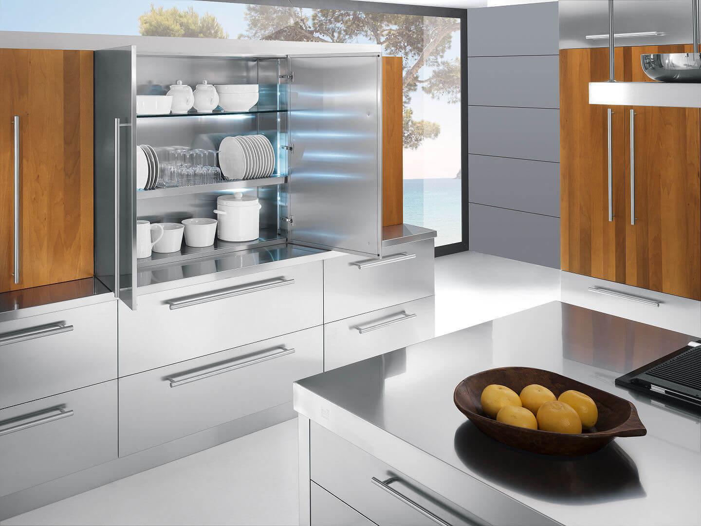 Arca Cucine Italia - Cucine Domestiche in Acciaio Inox - 23 - Barn a- 004
