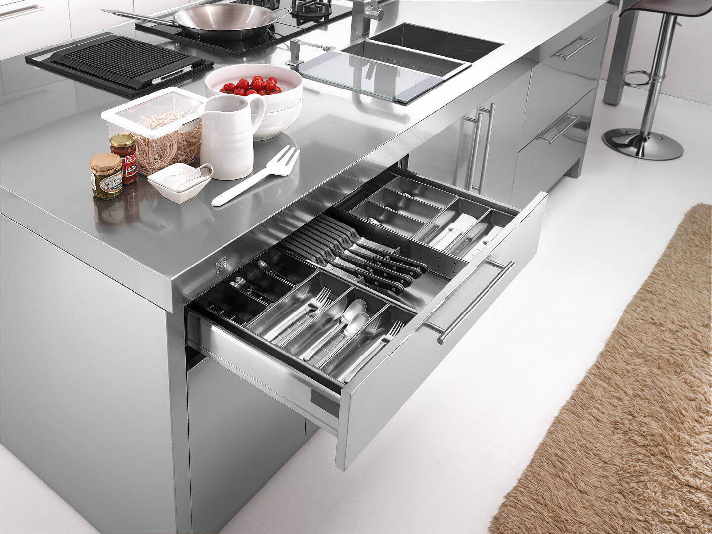 Arca Cucine Italy - Domestic stainless steel kitchens - 23 - Barna - 005