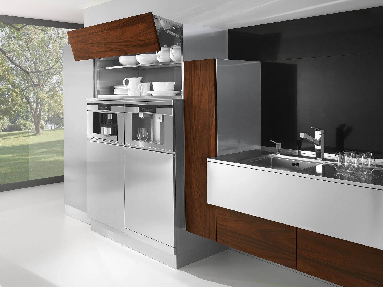 Arca Cucine Italia - Cucine Domestiche in Acciaio Inox - 24 - Retro - Ante