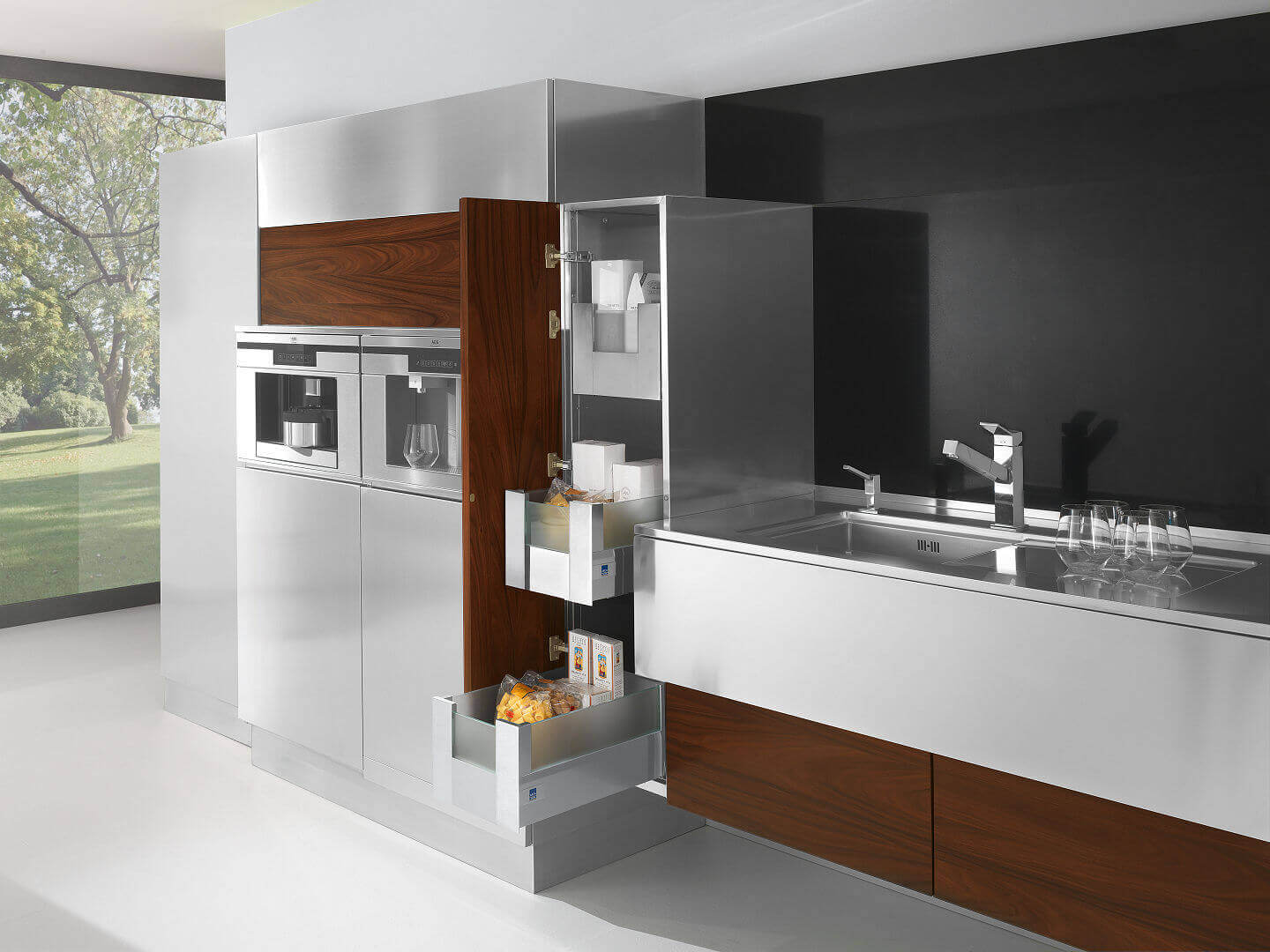 Arca Cucine Italy - Domestic stainless steel kitchens - 24 - Retro - 0002