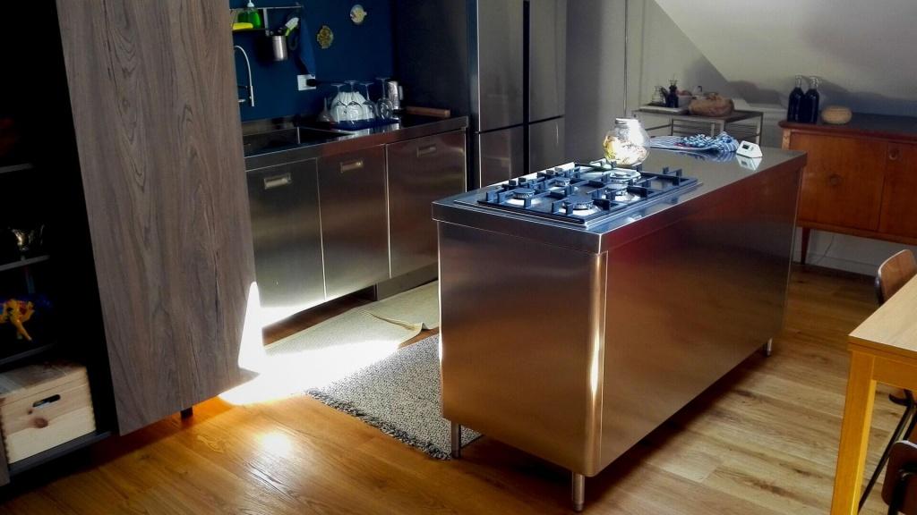 Ark Kitchens Italian Kitchens Stainless Steel Kitchen Monobloc Levanto Double Module 2