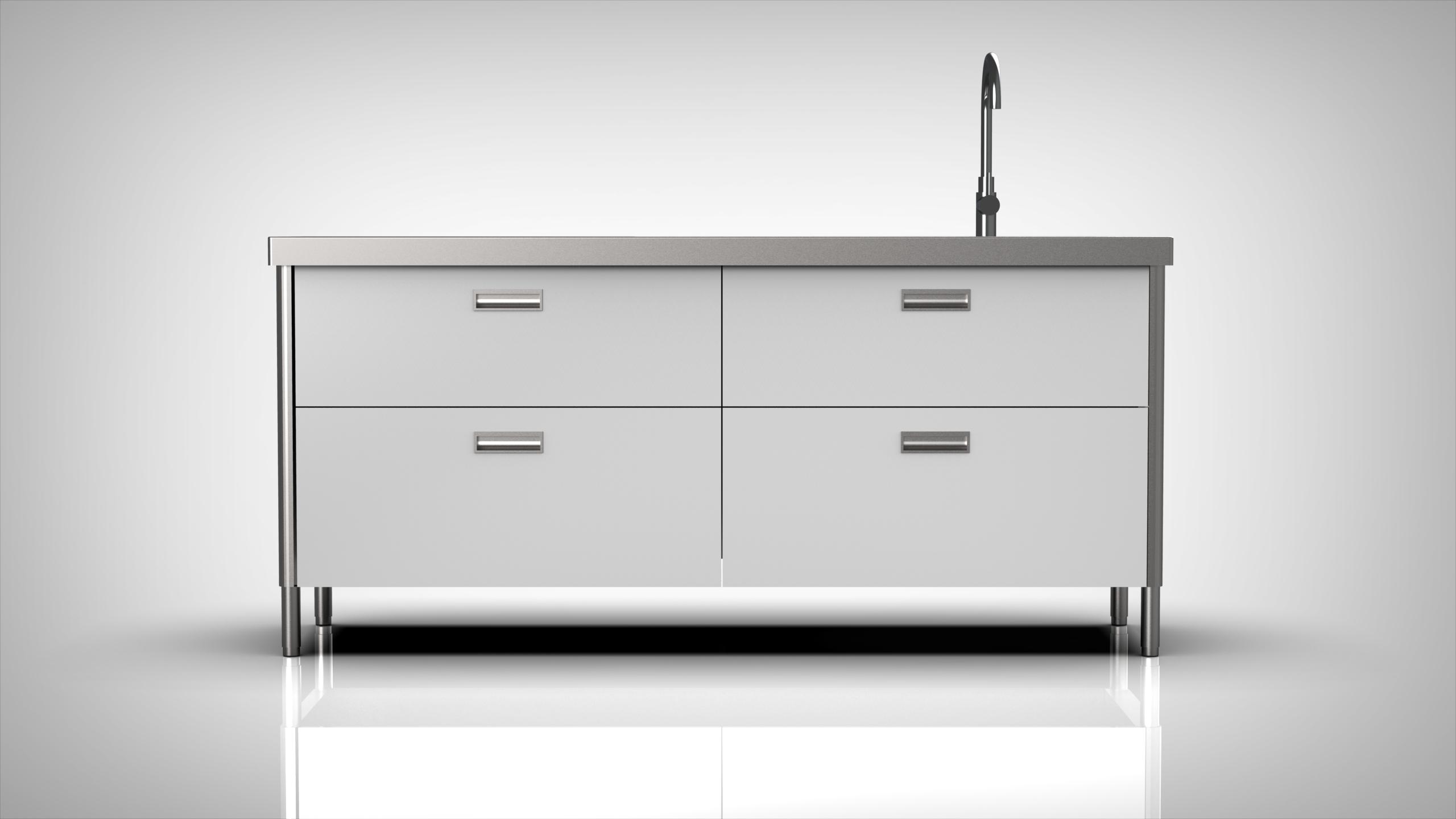 Arca Cucine Italy - Levanto - Modulo 190 - drawers - Sink 190 - White