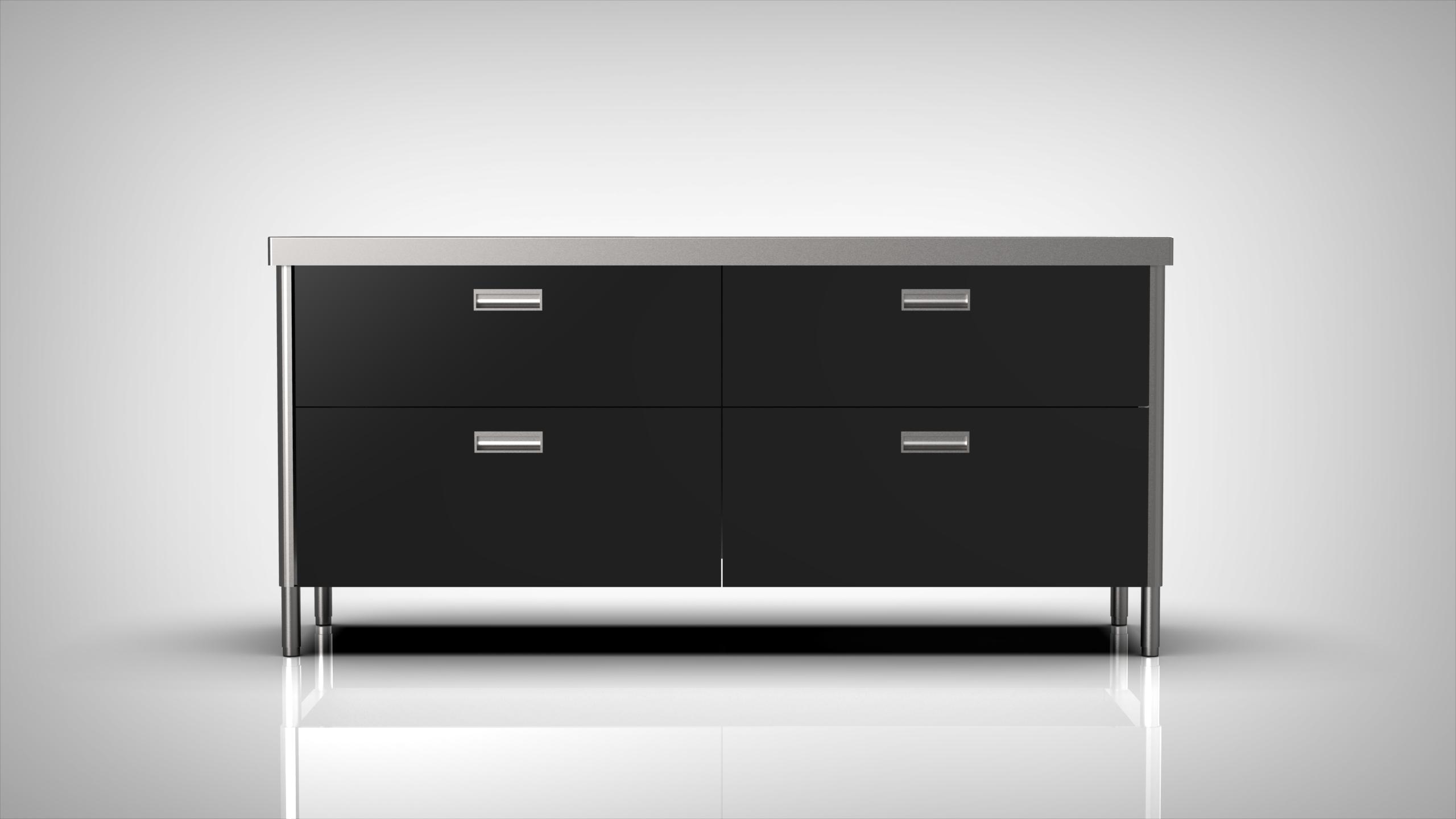 Arca Cucine Italy - Levanto - Modulo 190 - drawers - Sink 190 - Nero