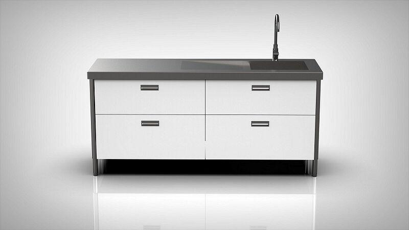 Arca Italian Kitchen Levanto Form 190 Basin of drawers