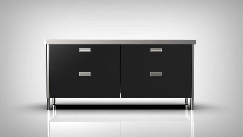 Arca Italian Kitchen Levanto Form 190 Black drawers