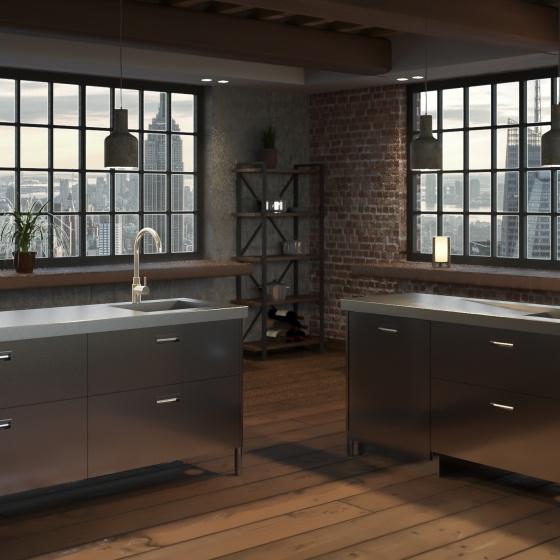 Arca Cucine Italia - Cucine Domestiche in Acciaio Inox - Monoblocchi Inox - Levanto